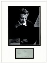 Benjamin Britten Autograph Signed Display
